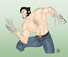 Wolverine Rage by Blackmoonrose13
