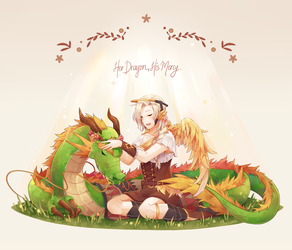 [Overwatch] Her Dragon, His Mercy by usarei