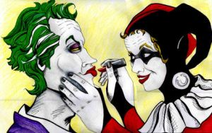 The Joker and Harley by SarahSilva
