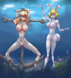 Under the sea, Nami and Carrot by GonzaloBarock