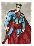 LunchtimeSketchcard-Superman by GilTriana