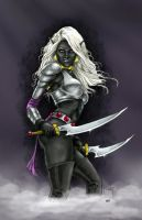MitchFoust Drow Maiden colors by EgilSterkr
