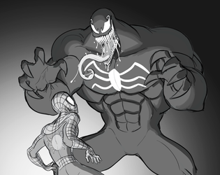 Spiderman and Venom by Mickeymonster