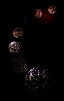 Celestial Spheres - Pinhole Drawing by ApricotProductions