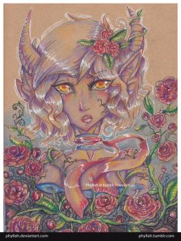 Demon And Roses by Phyllah