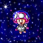 Space toadette by ninpeachlover