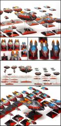 Firestorm Armada - The Directorate Patrol Fleet by Alandil-Lenard