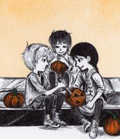 pumpkin carving (inktober 2015 #11) by sweet-suzume