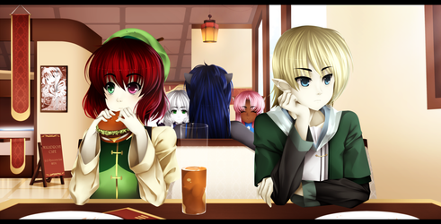 Maladroit Cafe by Pyocora-Tan