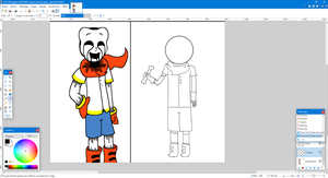 SCP-035 papyrus (SCPTALE and my Version.png - pa by EpicSwapSans