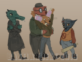 NITW characters by BASELARDER