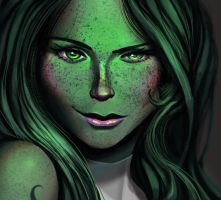 One face a day #40/365. SheHulk (Marvel) by Dylean