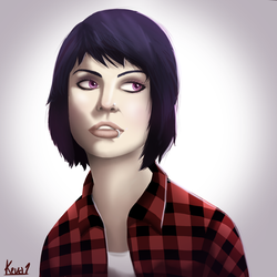 Plaid Shirt Girl by gentlemankevs