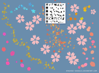 Sakura/ Momiji/ Petals BRUSHES (Ps) by ayashige-doodles
