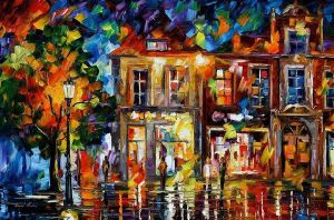 Night Imagination by Leonid Afremov by Leonidafremov