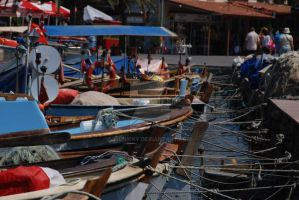 Boats Waiting at Port by Mcnicky