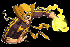 Iron Fist by dwaynebiddixart