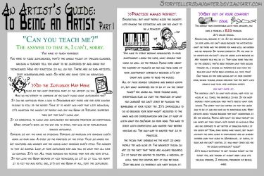 An Artist's Guide to Art 1 by storytellersdaughter