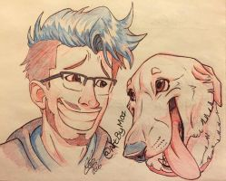 Mark and Chica by ArtistMaz