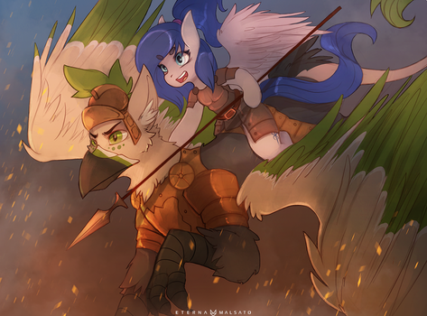 Into Battle by FoxInShadow