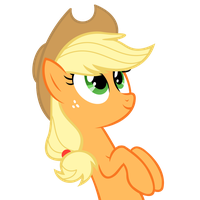 Applejack - No Background by Psalmie