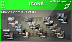 Movie Genre Icons - Set 03 by od3f1
