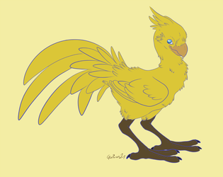 -Final Fantasy- Chocobo by Godspoison