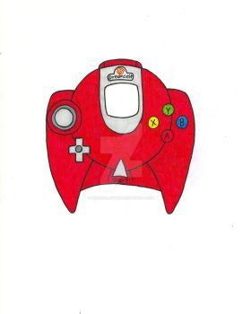 Red Dreamcast Controller by MugenPlanetX