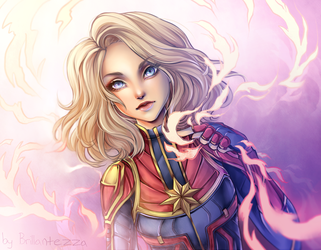 Captain Marvel by Brillantezza