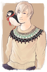 Boy with a Puffin by ChriFiM
