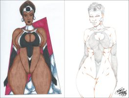 LUNARWOMAN SIDE2SIDE PENCIL by ARTofTROY