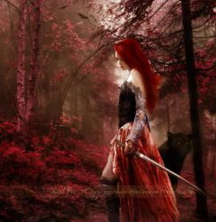 Red Forest by Le-Regard-des-Elfes