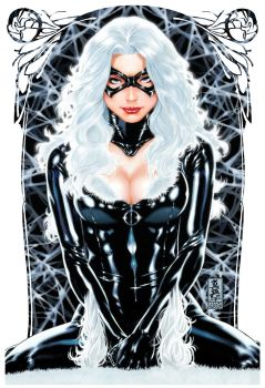 Blackcat painting by diablo2003