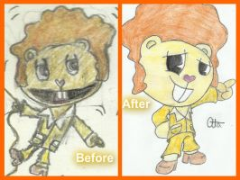 Before and after Disco bear by Ctlna0199