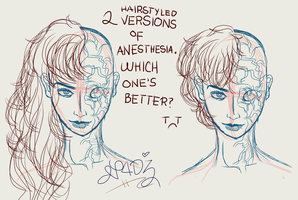 2 hairstyles of Anesthesia. by N4DZ