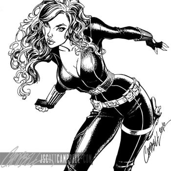 Black Widow INKS detail by J-Scott-Campbell