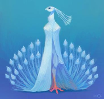 White Peacock by zgul-osr1113