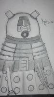Hello A Dalek Sketch (revisited) by changetheFATES