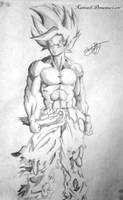 Goku - Traditional - Xannaeh by Xannaeh