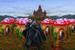 Jon Snow in the Mushroom Kingdom by Branka-Johnlockian