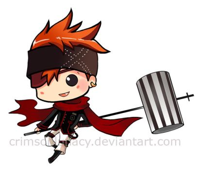D.Gray-Man Lavi Chibi by CrimsonLunacy