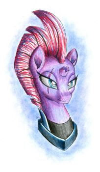 Tempest Shadow Portrait by NightPaint12