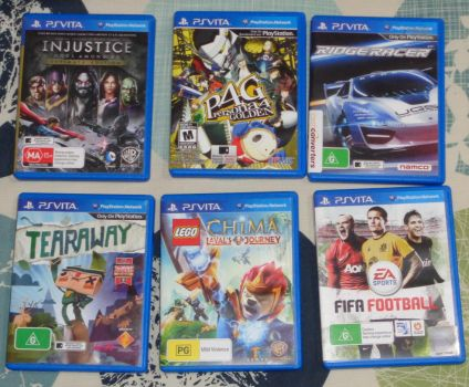 Some PS Vita Games by CheerBearsFan