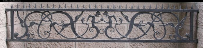 Cast iron fence by enframed
