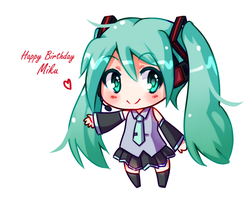 Happy Birthday Miku by GenericMav