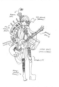 Sketch Thingy: 1-Man Band XD by xenoberry