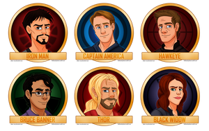 Avengers: The Original Six by Aileen-Rose