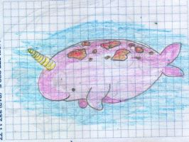 Happy narwhal by saysly