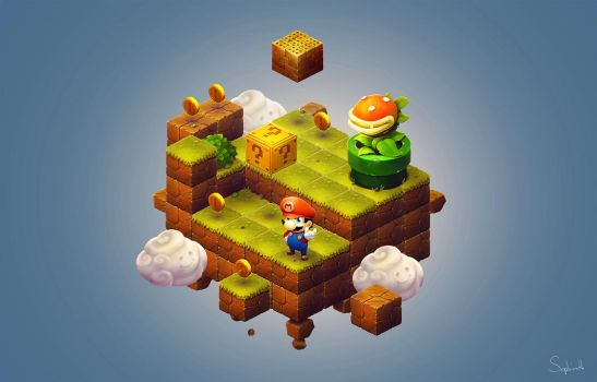 Isometric Mario Final Scene| FanArt #9 by Sephiroth-Art