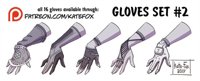Gloves set 2 by Kate-FoX
